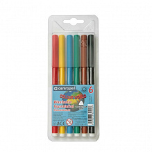 Фломастеры  6 цветов Centropen Washable Rainbow Kids, Colour World 7550/06